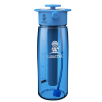 Blue hydration spray bottle